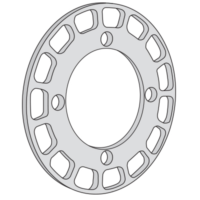 Oval Hole Ring, Rotating