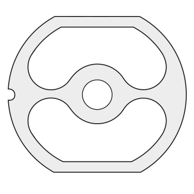 2 Hole Pre-Breaker Plate for Size 22 (3-1/4 – 83 mm)