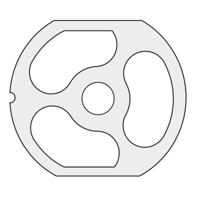 3 Hole Pre-Breaker Plate for Size 22 (3-1/4 – 83 mm)