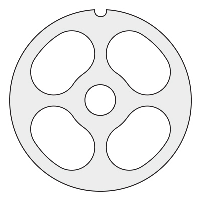 4 Hole Pre-Breaker Plate for Size 22 (3-1/4 – 83 mm)