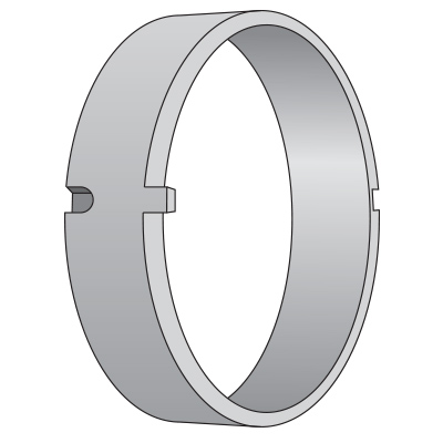 130 mm Distance Rings, Coded (2 Notch)